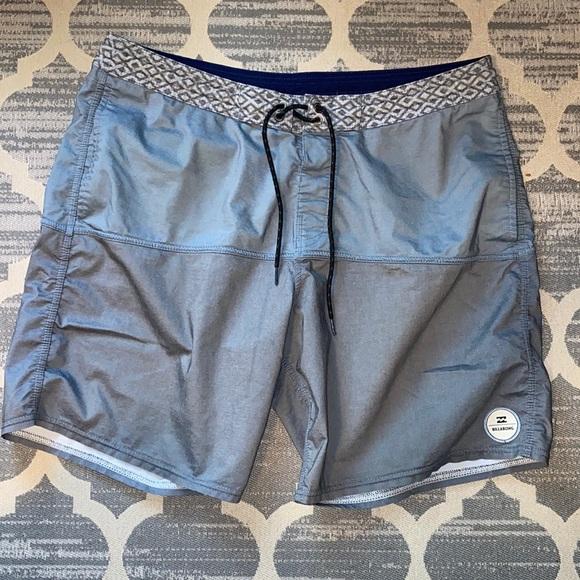 Billabong men's swim board shorts gray size 36 XL